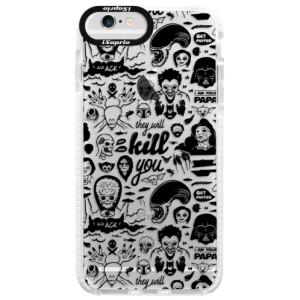 Silikonové pouzdro Bumper iSaprio Comics 01 black na mobil Apple iPhone 6/6S