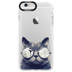 Silikonové pouzdro Bumper iSaprio Crazy Cat 01 na mobil Apple iPhone 6/6S