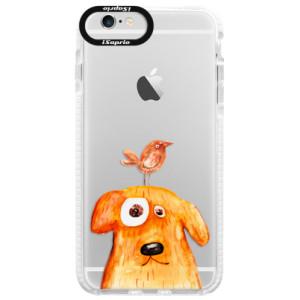 Silikonové pouzdro Bumper iSaprio Dog And Bird na mobil Apple iPhone 6/6S
