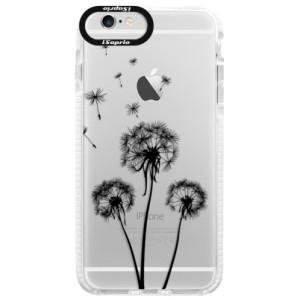 Silikonové pouzdro Bumper iSaprio Three Dandelions black na mobil Apple iPhone 6/6S