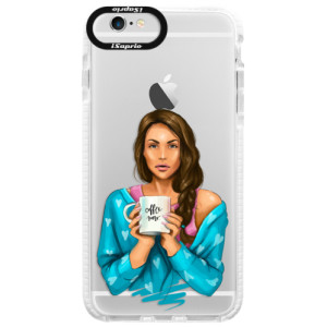 Silikonové pouzdro Bumper iSaprio Coffe Now Brunette na mobil Apple iPhone 6/6S
