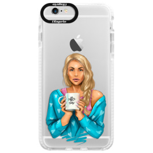 Silikonové pouzdro Bumper iSaprio Coffe Now Blond na mobil Apple iPhone 6/6S