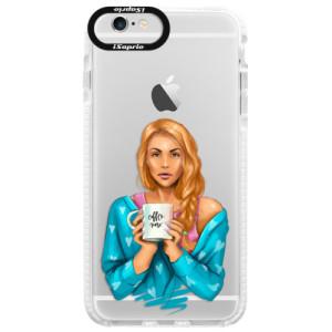 Silikonové pouzdro Bumper iSaprio Coffe Now Redhead na mobil Apple iPhone 6/6S