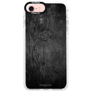Silikonové pouzdro Bumper iSaprio Black Wood 13 na mobil Apple iPhone 7