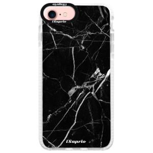 Silikonové pouzdro Bumper iSaprio Black Marble 18 na mobil Apple iPhone 7