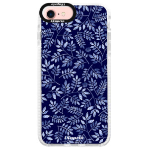 Silikonové pouzdro Bumper iSaprio Blue Leaves 05 na mobil Apple iPhone 7