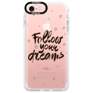Silikonové pouzdro Bumper iSaprio Follow Your Dreams black na mobil Apple iPhone 7