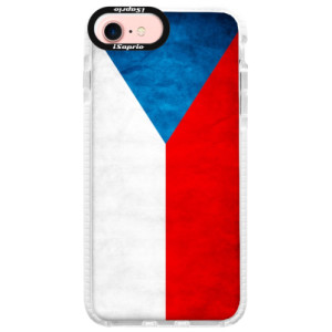 Silikonové pouzdro Bumper iSaprio Czech Flag na mobil Apple iPhone 7