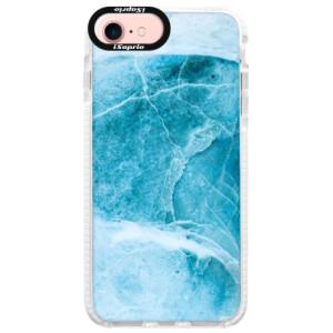 Silikonové pouzdro Bumper iSaprio Blue Marble na mobil Apple iPhone 7