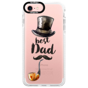 Silikonové pouzdro Bumper iSaprio Best Dad na mobil Apple iPhone 7