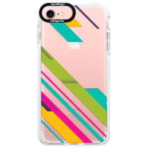 Silikonové pouzdro Bumper iSaprio Color Stripes 03 na mobil Apple iPhone 7