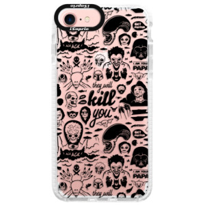 Silikonové pouzdro Bumper iSaprio Comics 01 black na mobil Apple iPhone 7