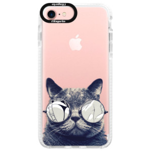 Silikonové pouzdro Bumper iSaprio Crazy Cat 01 na mobil Apple iPhone 7