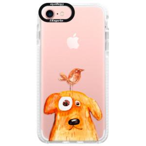 Silikonové pouzdro Bumper iSaprio Dog And Bird na mobil Apple iPhone 7
