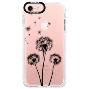 Silikonové pouzdro Bumper iSaprio Three Dandelions black na mobil Apple iPhone 7