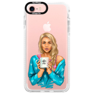 Silikonové pouzdro Bumper iSaprio Coffe Now Blond na mobil Apple iPhone 7