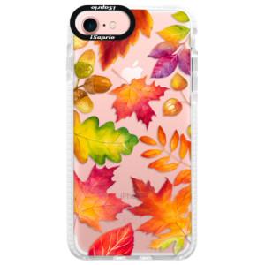 Silikonové pouzdro Bumper iSaprio Autumn Leaves 01 na mobil iPhone 7
