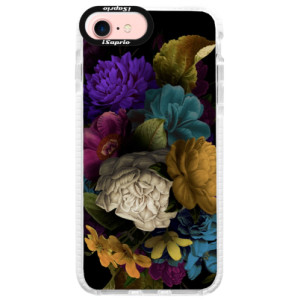 Silikonové pouzdro Bumper iSaprio Dark Flowers na mobil Apple iPhone 7