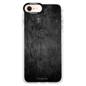 Silikonové pouzdro Bumper iSaprio Black Wood 13 na mobil Apple iPhone 8