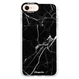 Silikonové pouzdro Bumper iSaprio Black Marble 18 na mobil Apple iPhone 8