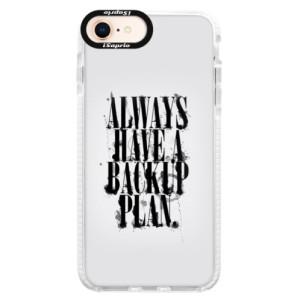 Silikonové pouzdro Bumper iSaprio Backup Plan na mobil iPhone 8