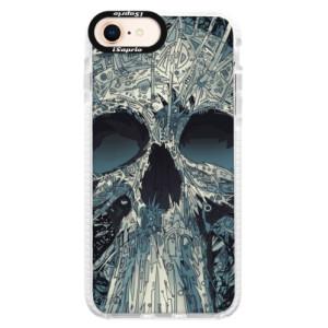 Silikonové pouzdro Bumper iSaprio Abstract Skull na mobil iPhone 8