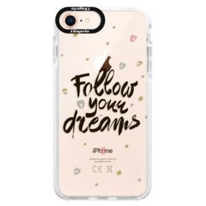 Silikonové pouzdro Bumper iSaprio Follow Your Dreams black na mobil Apple iPhone 8