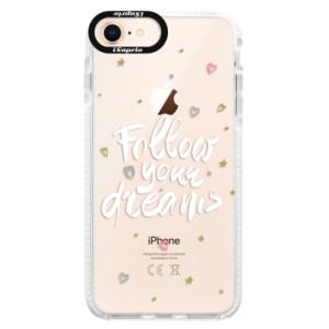 Silikonové pouzdro Bumper iSaprio Follow Your Dreams white na mobil Apple iPhone 8