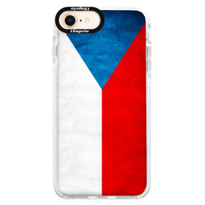 Silikonové pouzdro Bumper iSaprio Czech Flag na mobil Apple iPhone 8