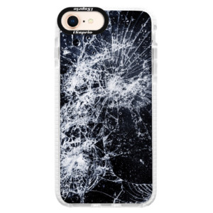 Silikonové pouzdro Bumper iSaprio Cracked na mobil Apple iPhone 8