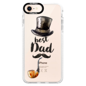 Silikonové pouzdro Bumper iSaprio Best Dad na mobil Apple iPhone 8