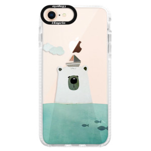 Silikonové pouzdro Bumper iSaprio Bear With Boat na mobil Apple iPhone 8