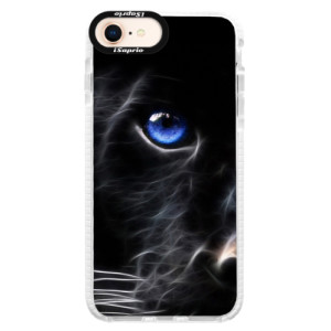 Silikonové pouzdro Bumper iSaprio Black Puma na mobil Apple iPhone 8