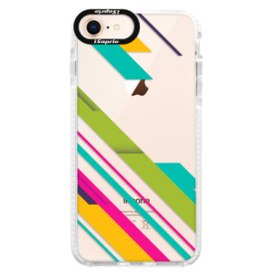 Silikonové pouzdro Bumper iSaprio Color Stripes 03 na mobil Apple iPhone 8