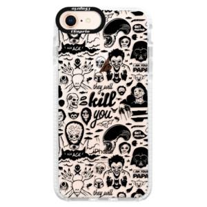 Silikonové pouzdro Bumper iSaprio Comics 01 black na mobil Apple iPhone 8