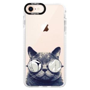 Silikonové pouzdro Bumper iSaprio Crazy Cat 01 na mobil Apple iPhone 8