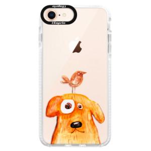 Silikonové pouzdro Bumper iSaprio Dog And Bird na mobil Apple iPhone 8