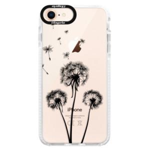 Silikonové pouzdro Bumper iSaprio Three Dandelions black na mobil Apple iPhone 8