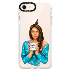 Silikonové pouzdro Bumper iSaprio Coffe Now Brunette na mobil Apple iPhone 8