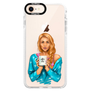 Silikonové pouzdro Bumper iSaprio Coffe Now Redhead na mobil Apple iPhone 8