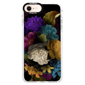Silikonové pouzdro Bumper iSaprio Dark Flowers na mobil Apple iPhone 8