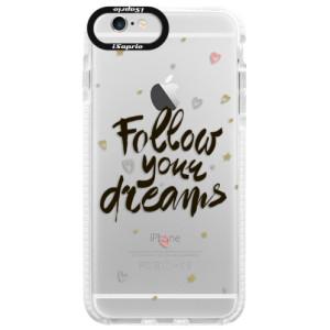 Silikonové pouzdro Bumper iSaprio Follow Your Dreams black na mobil Apple iPhone 6 Plus/6S Plus