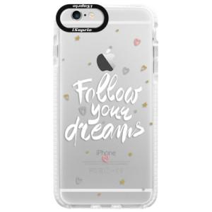 Silikonové pouzdro Bumper iSaprio Follow Your Dreams white na mobil Apple iPhone 6 Plus/6S Plus