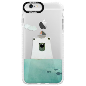 Silikonové pouzdro Bumper iSaprio Bear With Boat na mobil Apple iPhone 6 Plus/6S Plus