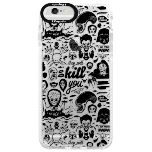 Silikonové pouzdro Bumper iSaprio Comics 01 black na mobil Apple iPhone 6 Plus/6S Plus