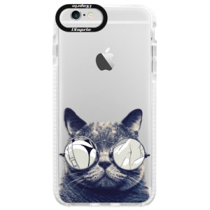 Silikonové pouzdro Bumper iSaprio Crazy Cat 01 na mobil Apple iPhone 6 Plus/6S Plus