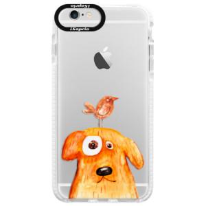 Silikonové pouzdro Bumper iSaprio Dog And Bird na mobil Apple iPhone 6 Plus/6S Plus