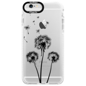 Silikonové pouzdro Bumper iSaprio Three Dandelions black na mobil Apple iPhone 6 Plus/6S Plus