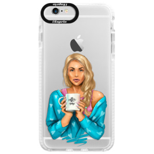 Silikonové pouzdro Bumper iSaprio Coffe Now Blond na mobil Apple iPhone 6 Plus/6S Plus