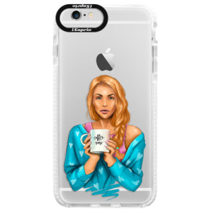 Silikonové pouzdro Bumper iSaprio Coffe Now Redhead na mobil Apple iPhone 6 Plus/6S Plus